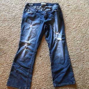 Torrid distressed boot cut jeans - 16W